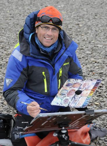 Artist David McEown in Antarctica