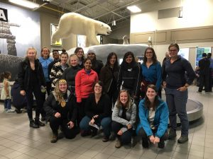 Arctic Field School group from the University of Waterloo