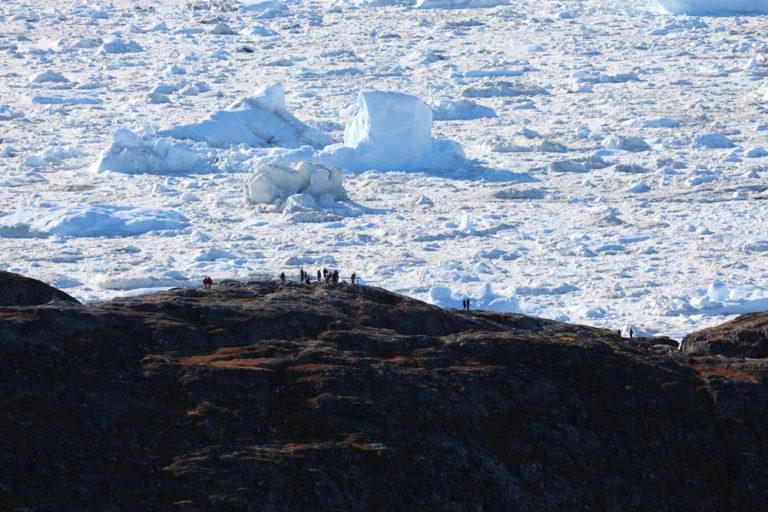 The immense Jacobshavn Icefjord, Greenland.
