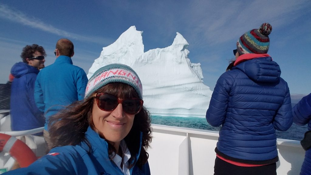 Iceberg selfie in the Canadian Arctic