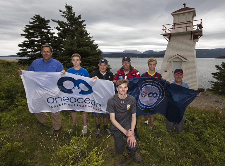 Andrew Prossin and the Can Geo finalists. Photo by Boomer Jerritt