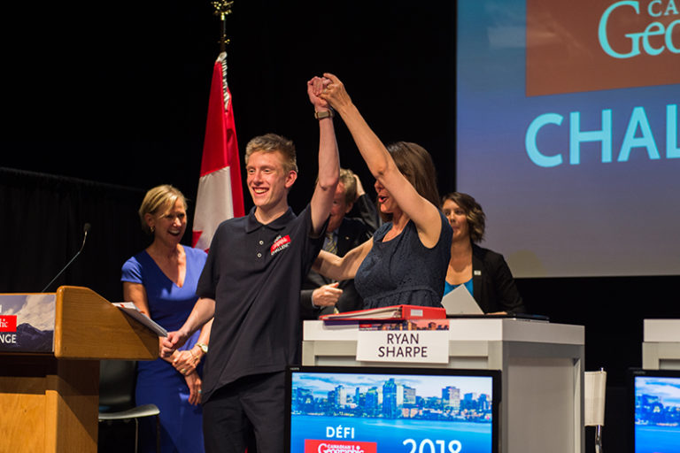 Can Geo Challenge winner William Chapman. Photo by Lindsay Ralph
