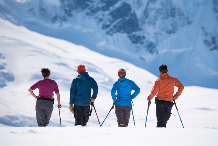 Snowshoeing in Antarctica