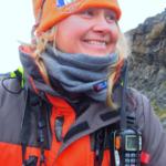 One Ocean Expeditions staff member in Antarctica