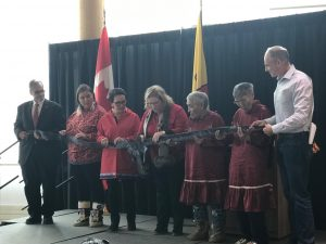 sealskin ribbon cutting ceremony