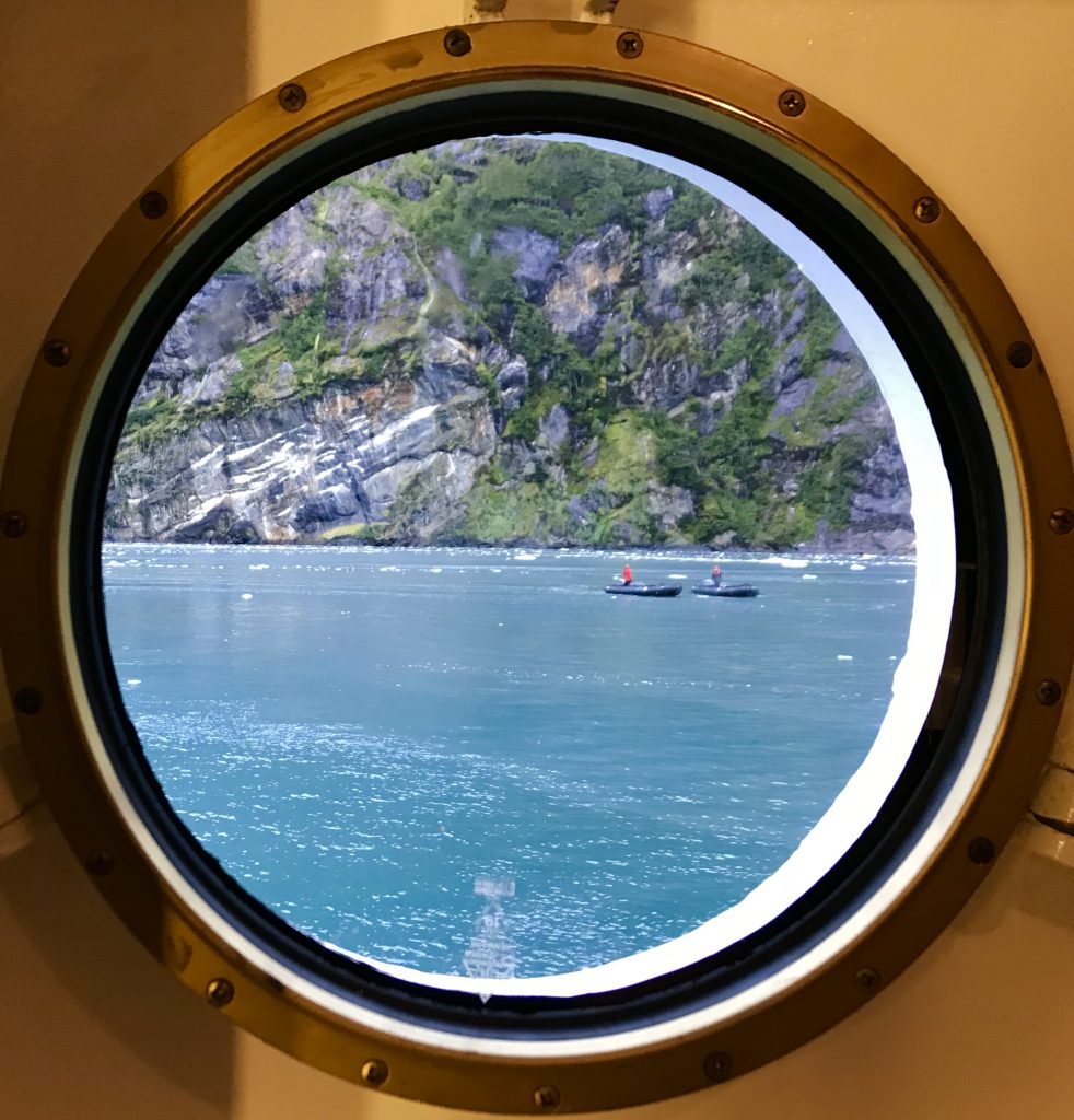 View from a cubby hole during the Chilean Fjords voyage.