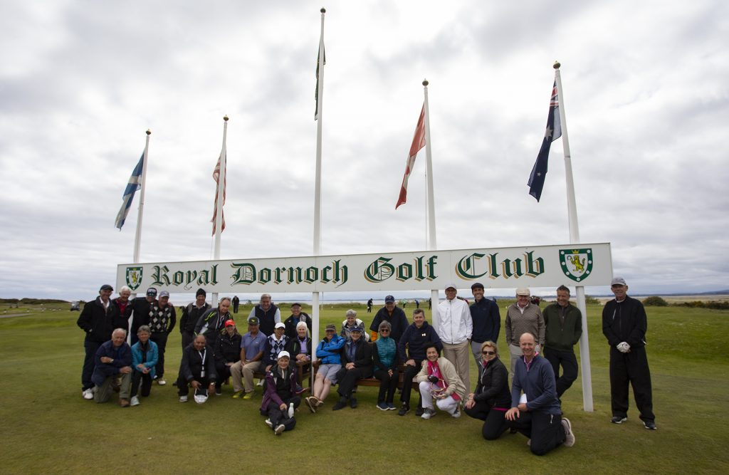 Expeditions golfers at Royal Dornoch. Image by Boomer Jerritt.