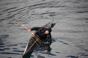 Greenlandic Kayaking Demonstration.