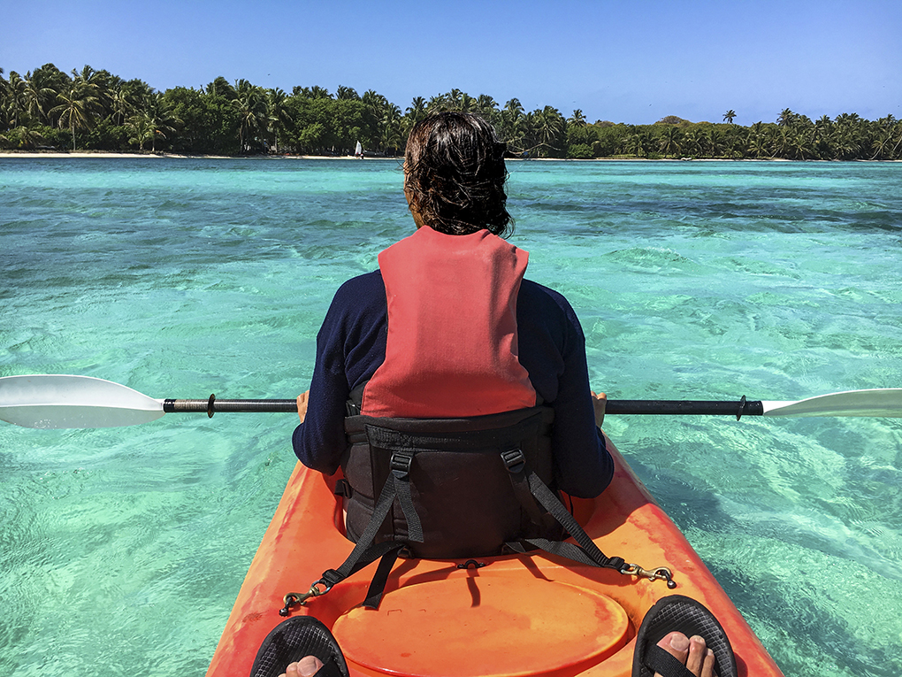 Kayaking in Belize, Caribbean