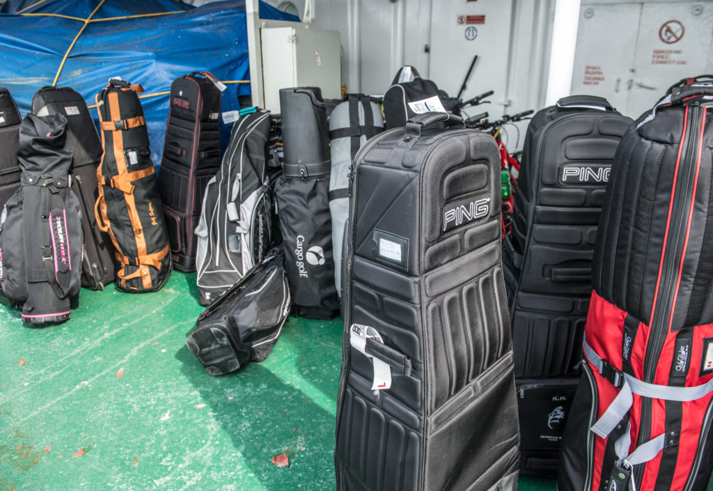 Golf Clubs on board the ship.