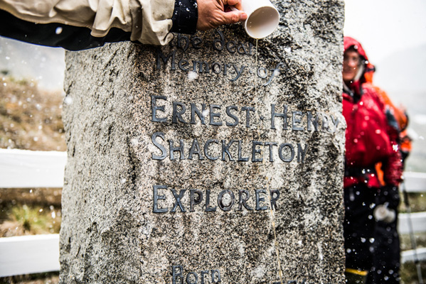 A toast to Ernest Shackleton.