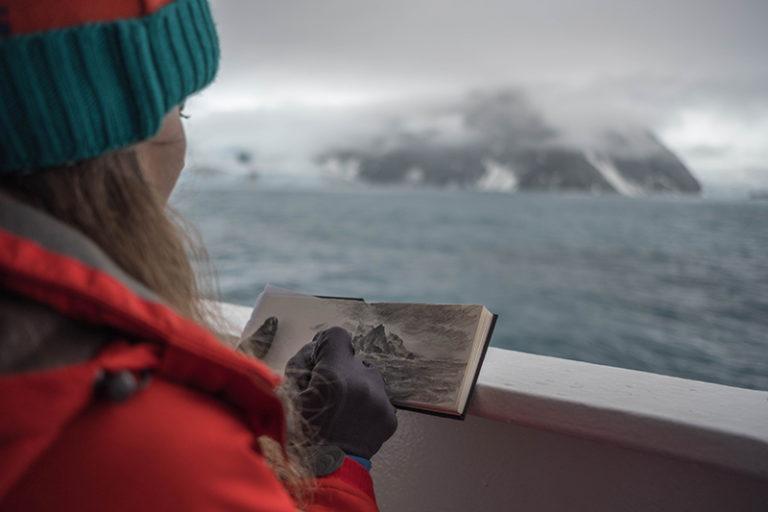 Clare Dudeney in Antarctica