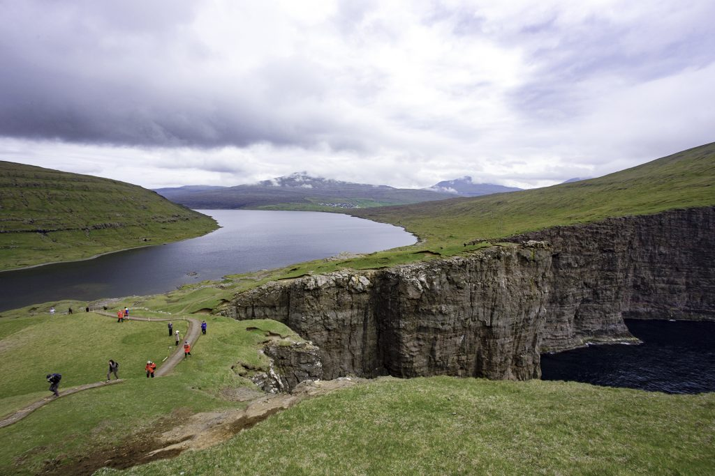 Sørvágsvatn in the Faroe Islands, one of the North Atlantic highlights