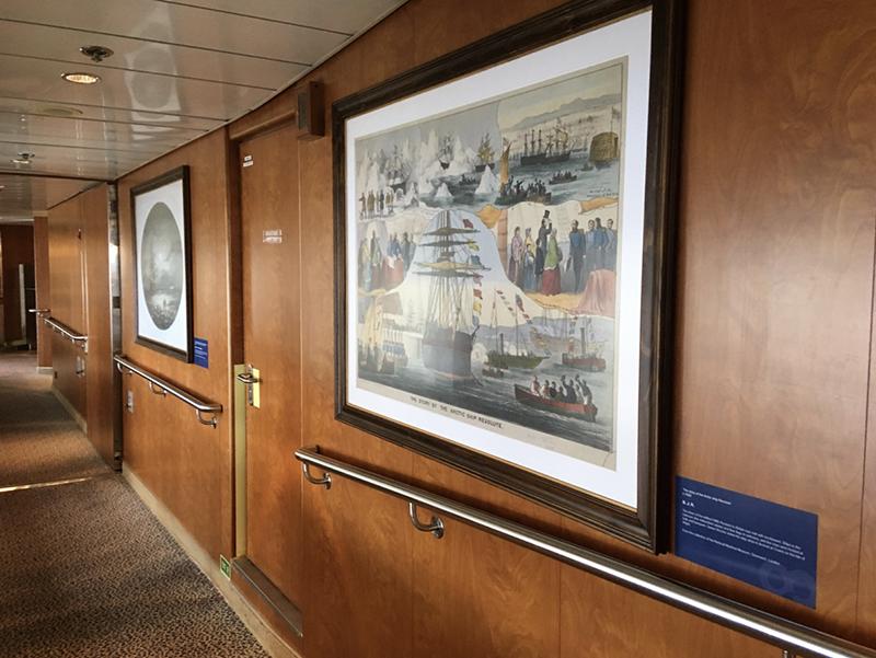 Onboard Display on RCGS Resolute